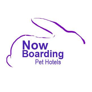 Now Boarding Pet Hotels Logo